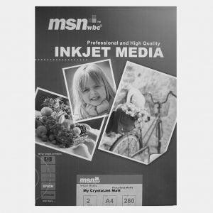 کاغذ چاپ عکس ام اس ان دبلیو بی سی مدل مات ۲ برگ ۲۹.۷×۲۱.۰ س م ۲۶۰ گرم نمونه.