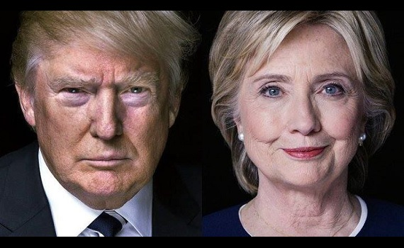 Hillary Clinton vs Donald Trump in the US Presidential Election 2016